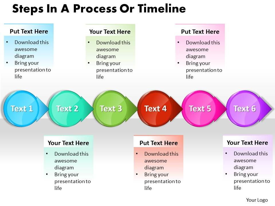 business powerpoint templates steps process or timeline sales ppt