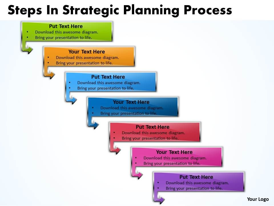 business powerpoint templates steps strategic planning process, Modern powerpoint