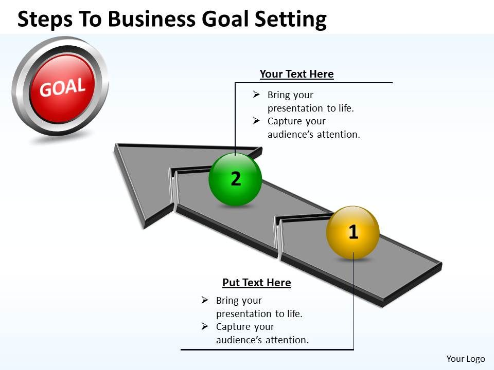 Business powerpoint templates steps to goal setting sales for Setting up a powerpoint template