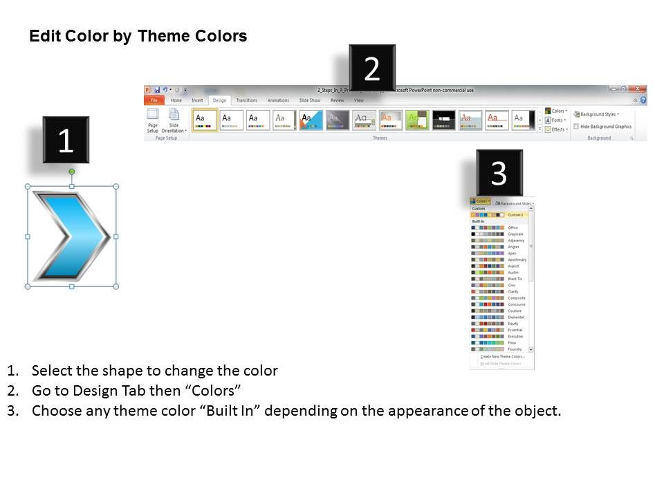 Business Powerpoint Templates Straight Line Process Using