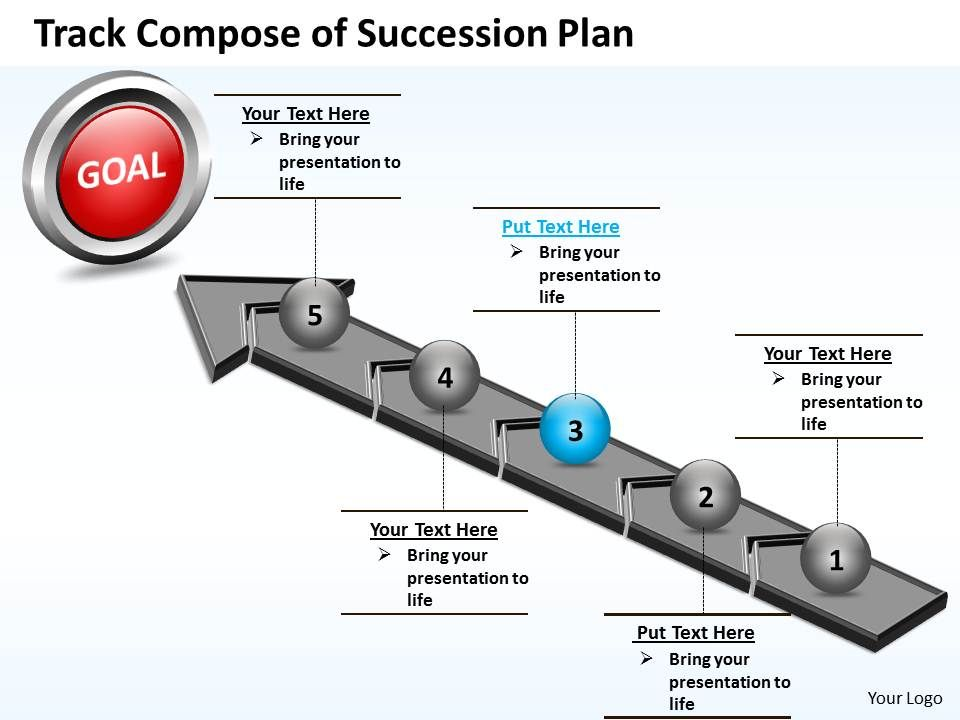 Business PowerPoint Templates track compose of succession plan – Succession Plan Template