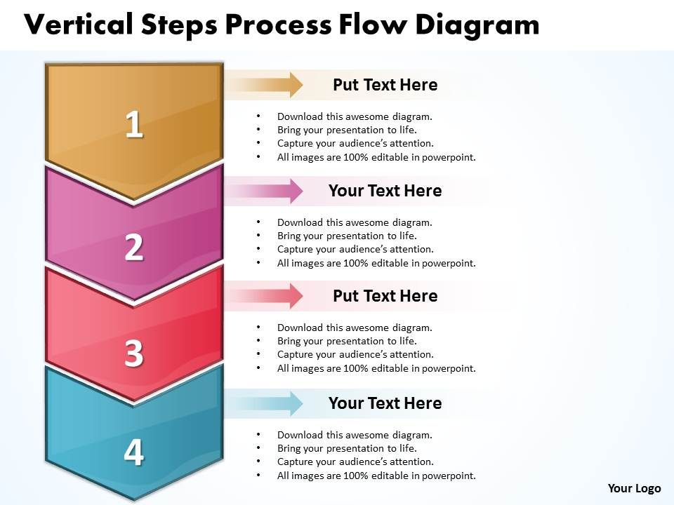 Business Powerpoint Templates Vertical Steps Process Flow Diagram