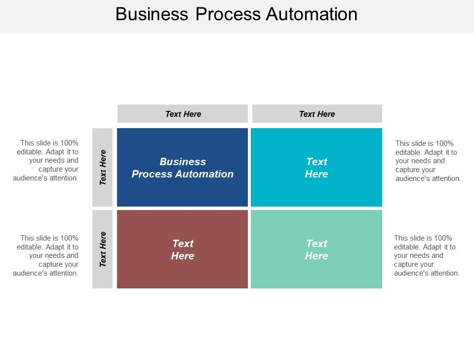 Business Process Automation Ppt Powerpoint Presentation File