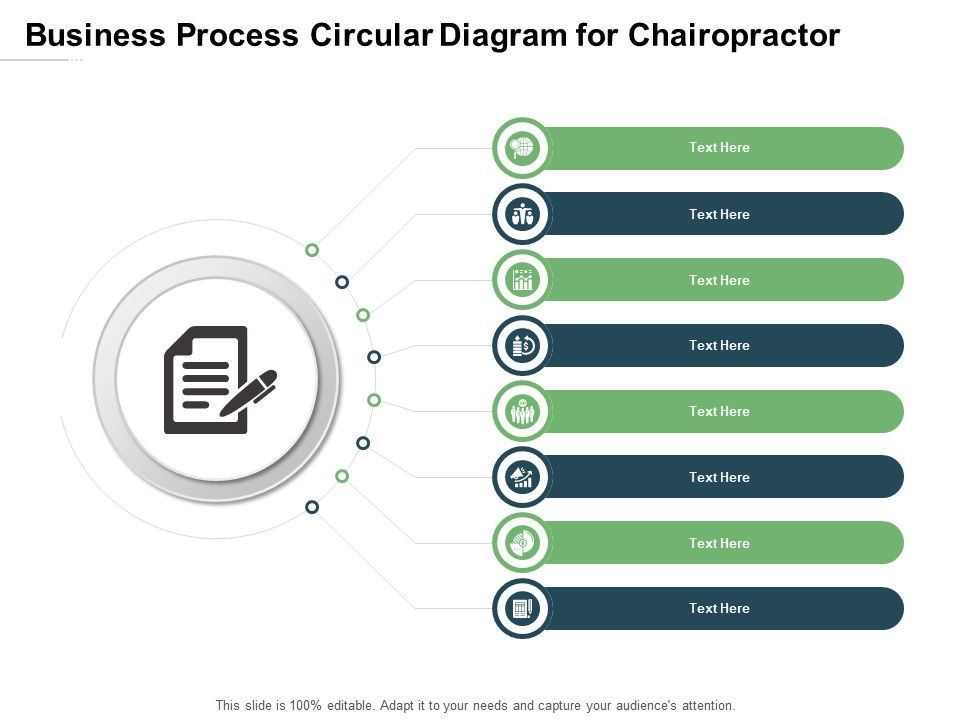 Business Process Circular Diagram For Chairopractor Infographic Template