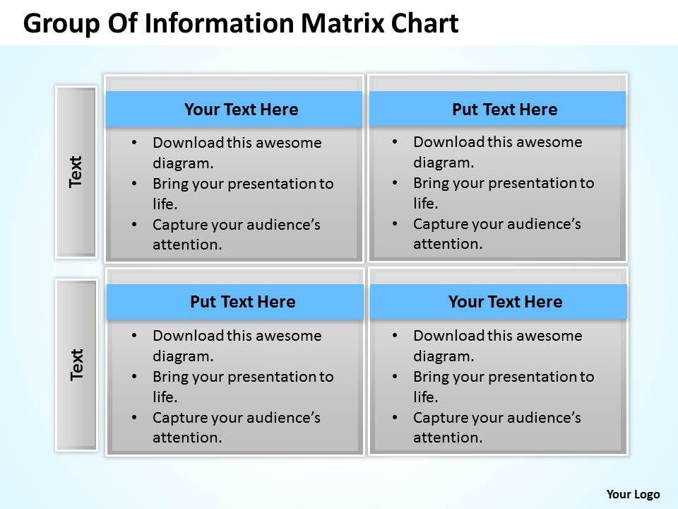 Business process consulting group of information matrix chart businessprocessconsultinggroupofinformationmatrixchartpowerpointtemplates0528slide01 toneelgroepblik Choice Image
