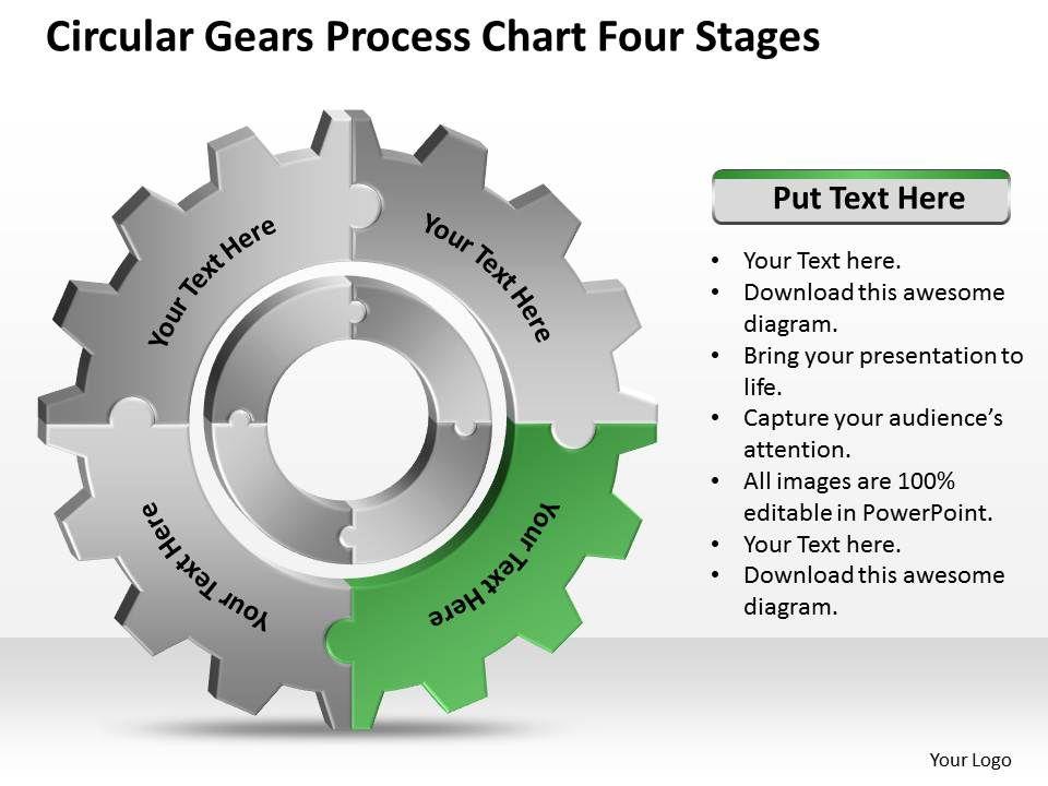 Business Process Diagram Symbols Chart Four Stages