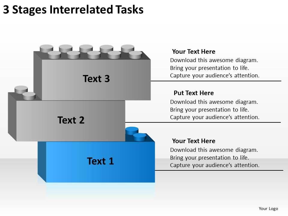 Business Process Diagram Symbols Interrelated Tasks