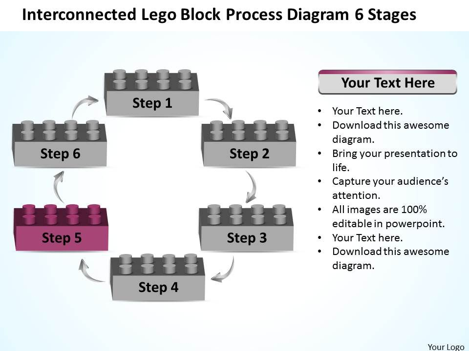 Business Process Diagram Visio Lego Block 6 Stages
