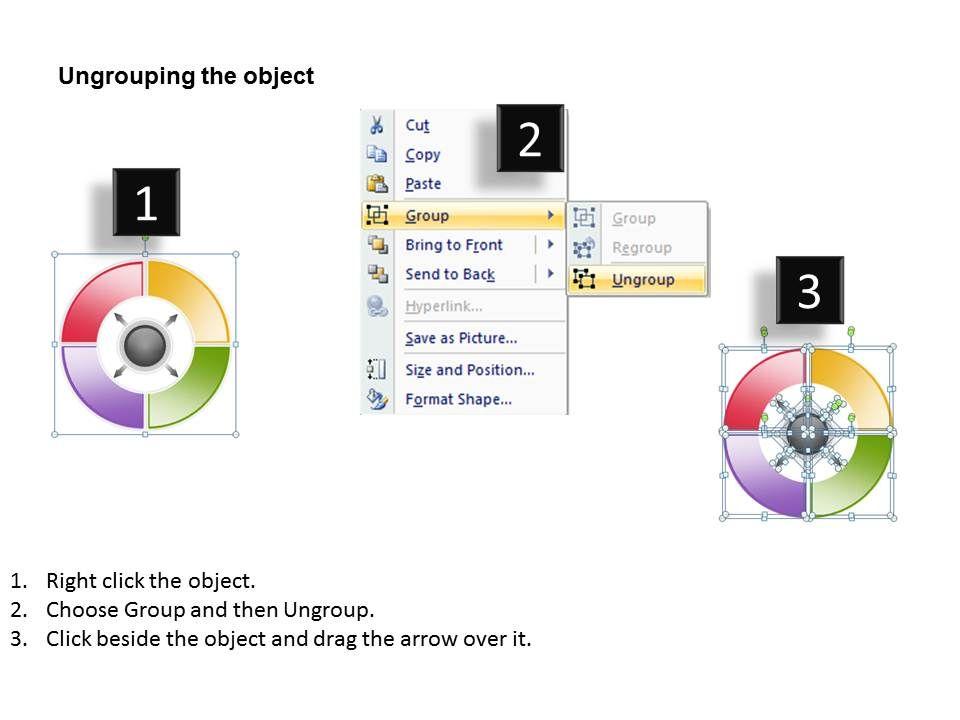 Business Process Diagram Visio Multicolored Circular Data