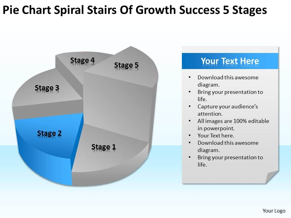 Business Process Diagram Visio Success 5 Stages Powerpoint Templates ...
