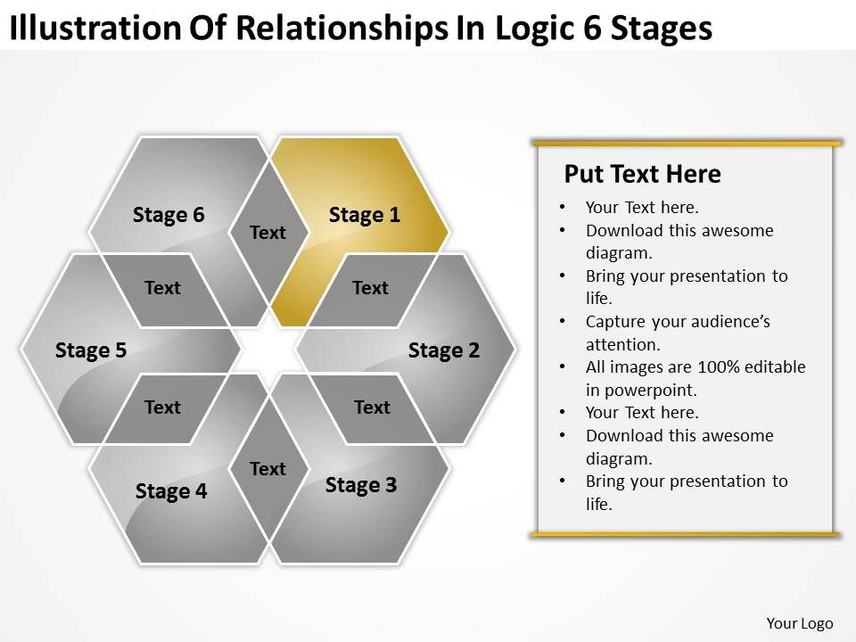 Business process diagram vision illustration of relationships businessprocessdiagramvisionillustrationofrelationshipslogic6stagespowerpointtemplatesslide02 toneelgroepblik Image collections