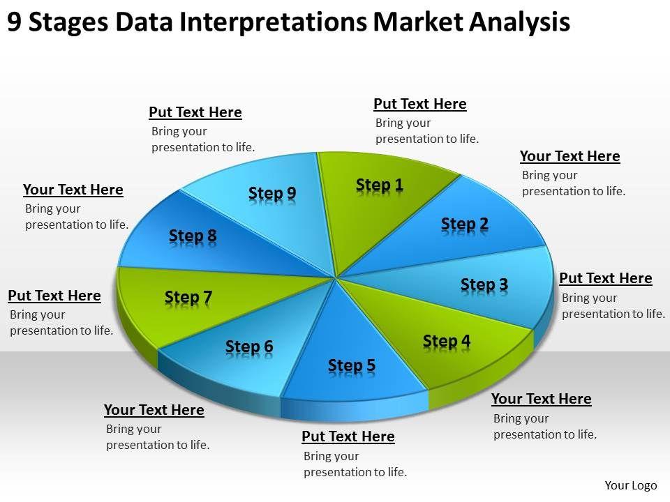 Business Process Flow Chart Example Data Interpretations Market Analysis Powerpoint Templates Slide01