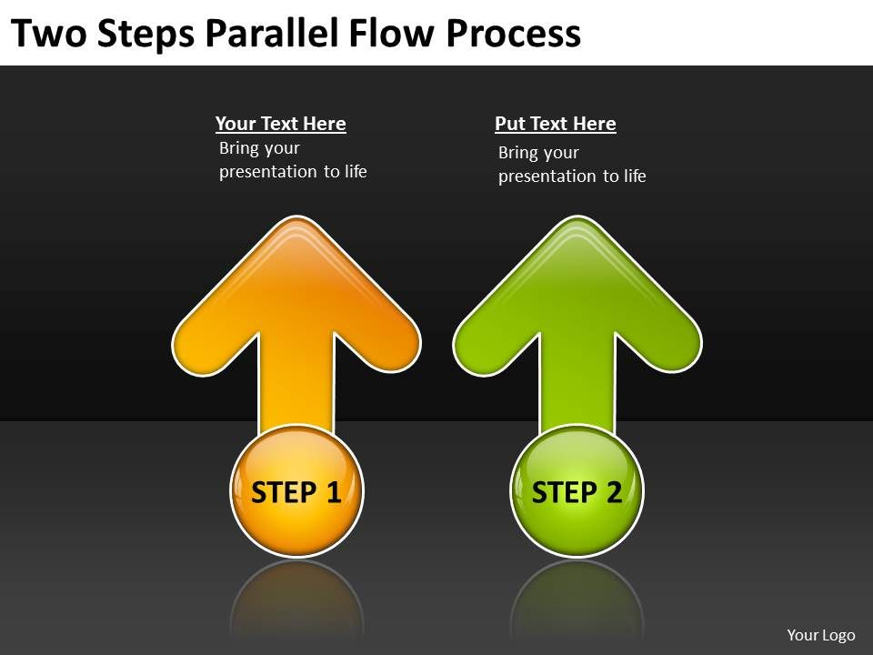 Business Process Flow Chart Examples Two Steps Parallel Powerpoint