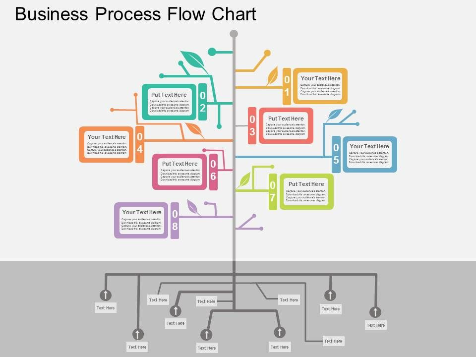 Business Process Flow Chart Flat Powerpoint Design ...