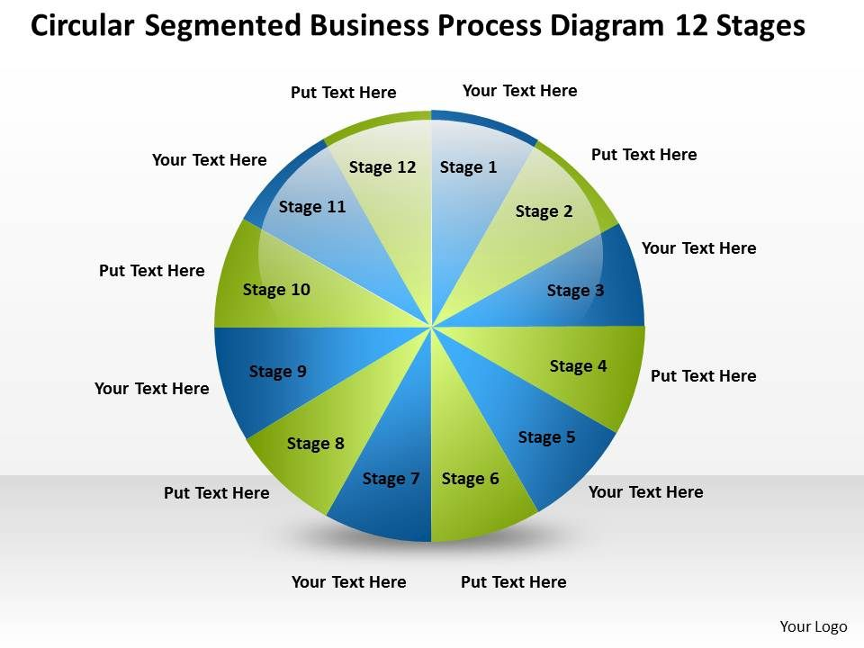 business_process_flow_chart_segmented_diagram_12_stages_powerpoint_templates_Slide01