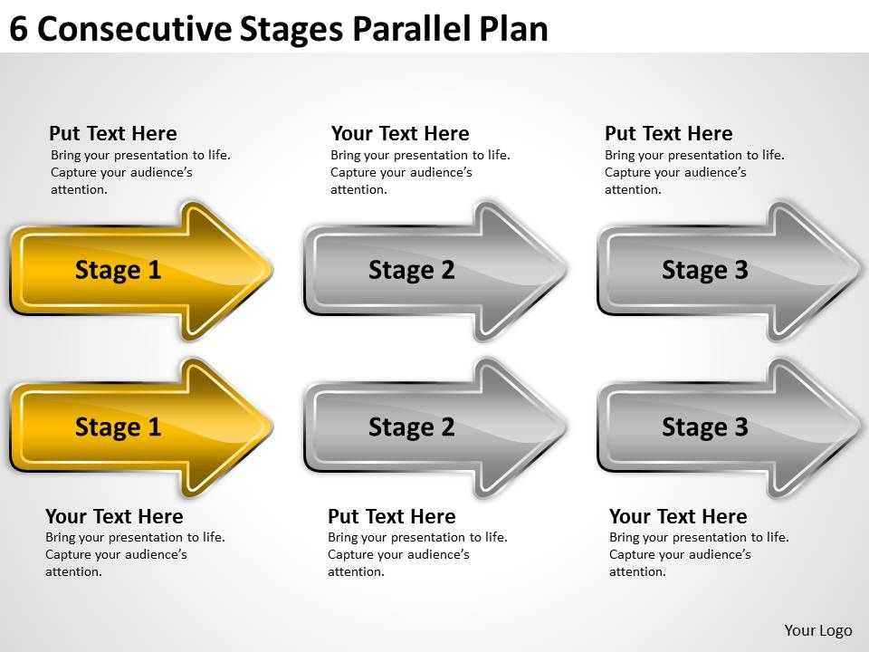 business process flow chart stages parallel plan powerpoint templates ...