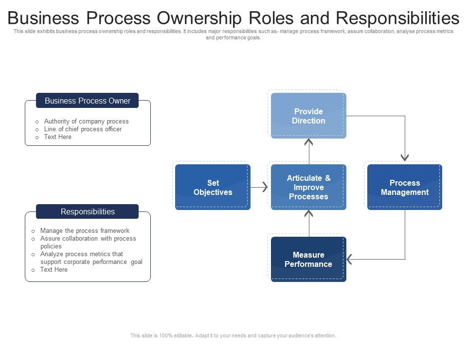 Business Process Ownership Roles And Responsibilities