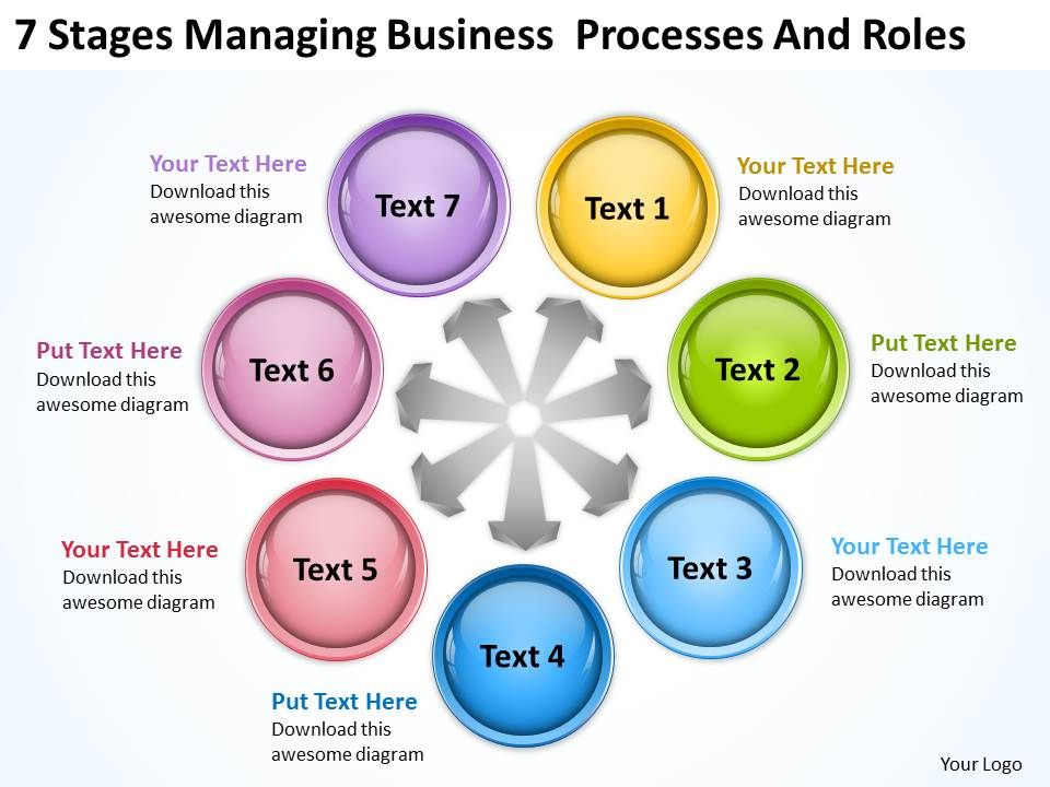 Business Process Workflow Diagram And Roles Powerpoint Templates Ppt