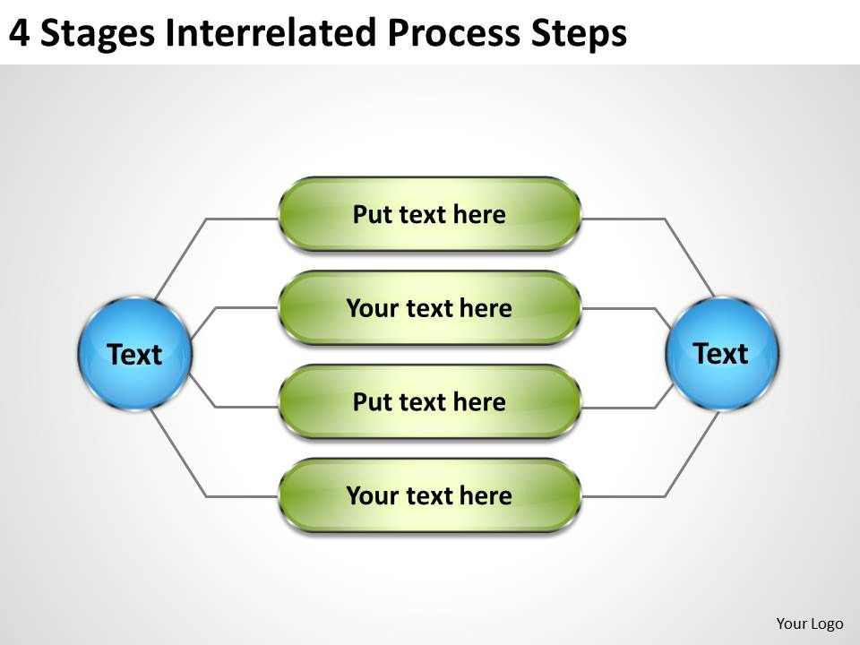 business_processes_4_stages_interrelated_steps_powerpoint_templates_Slide01