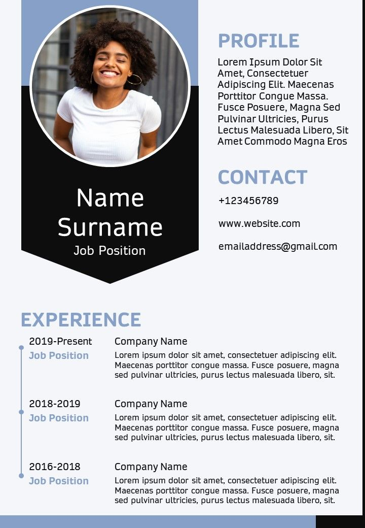 Business Professional Resume Sample A4 CV Template