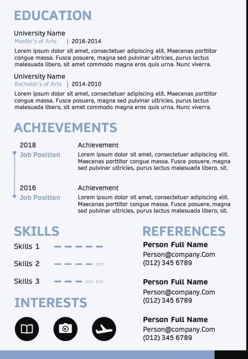 Business Professional Resume Sample A4 Cv Template Powerpoint