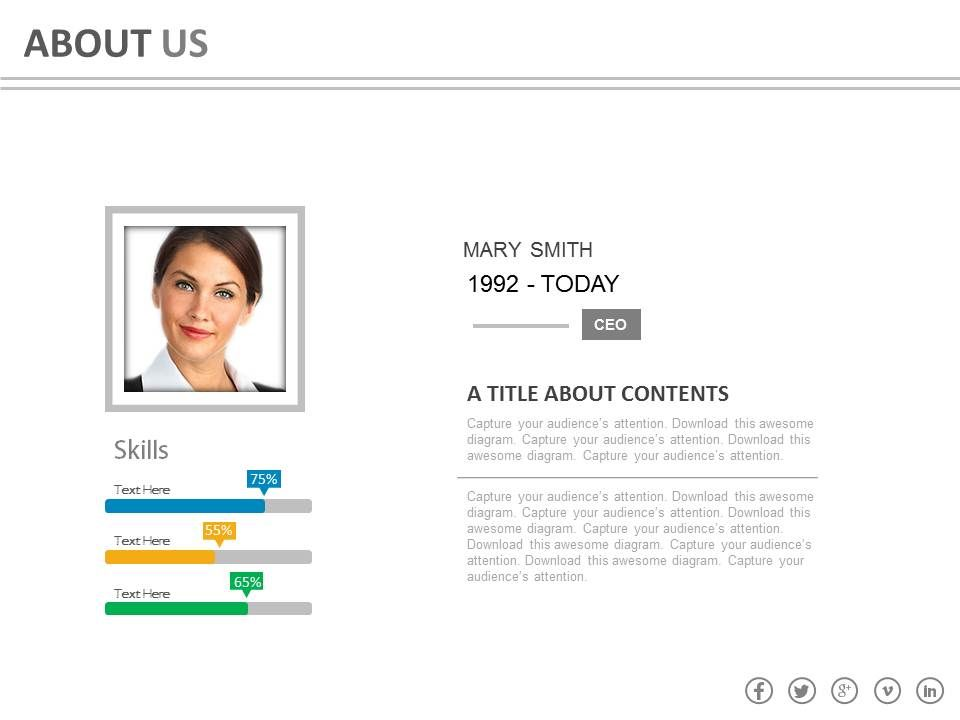 Business Profile For Company Employee Powerpoint Slides | Graphics