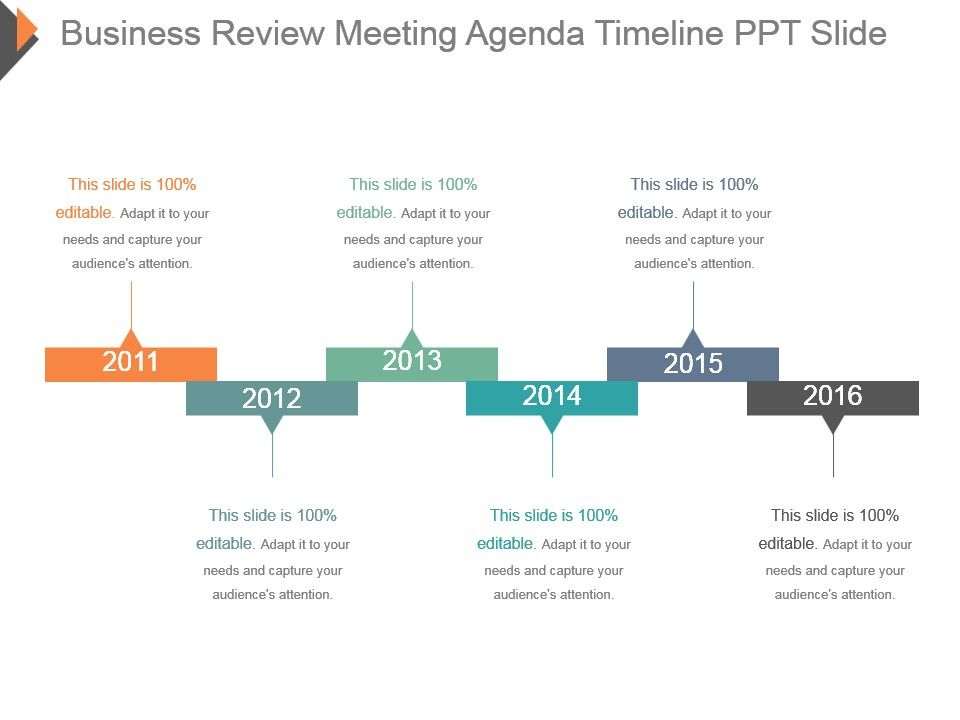 business review meeting agenda timeline ppt slide powerpoint slide