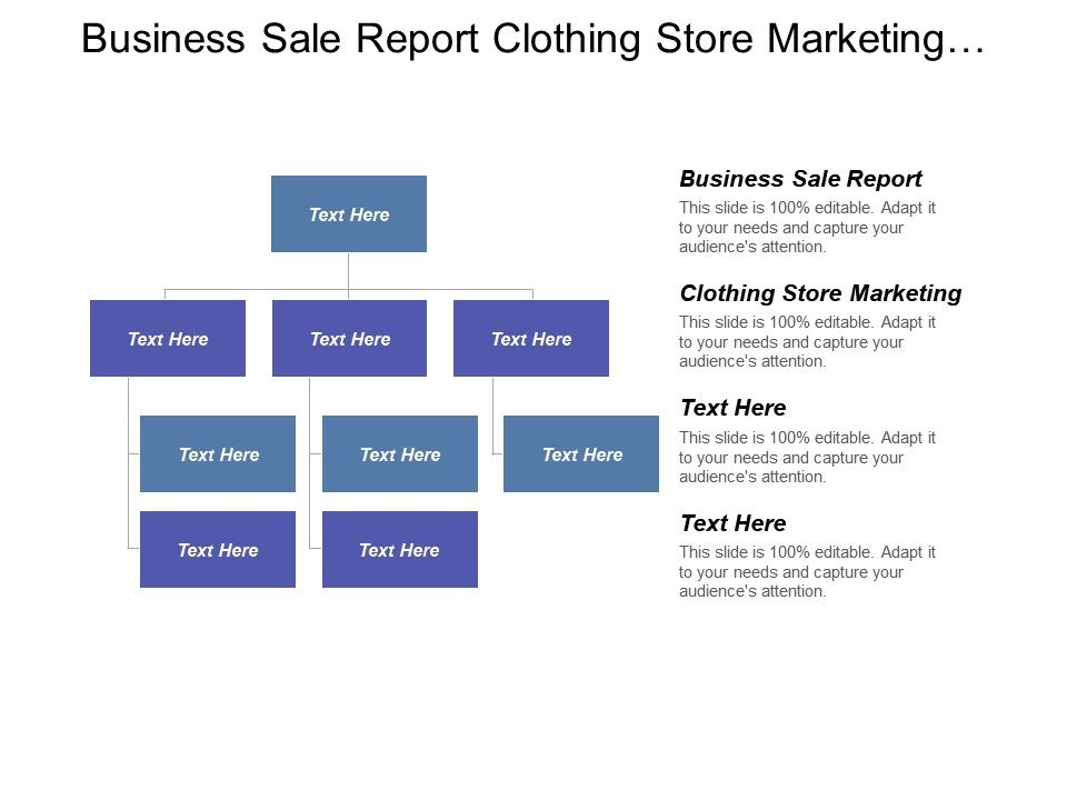 Business Sale Report Clothing Store Marketing Commodity