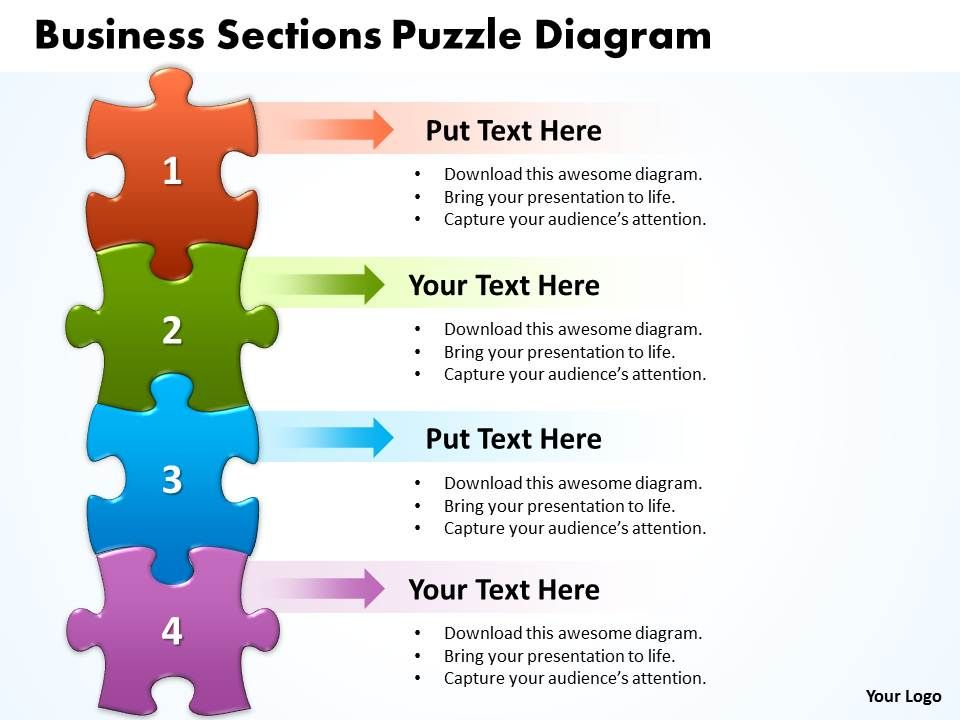 Business Sections Puzzle Diagram Powerpoint Templates Ppt
