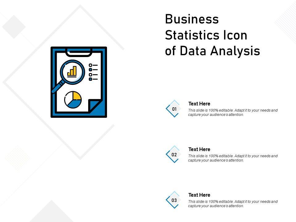 Business Statistics Icon Of Data Analysis