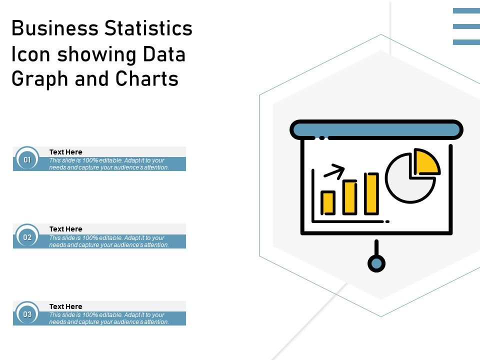 Business Statistics Icon Showing Data Graph And Charts