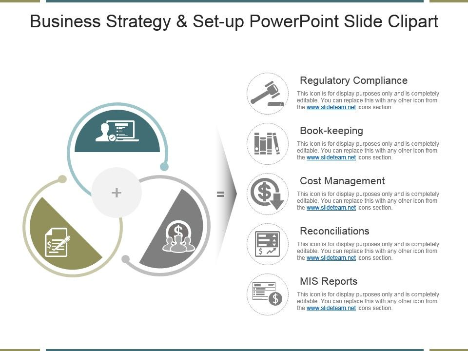 business strategy and set up powerpoint slide clipart | powerpoint, Modern powerpoint