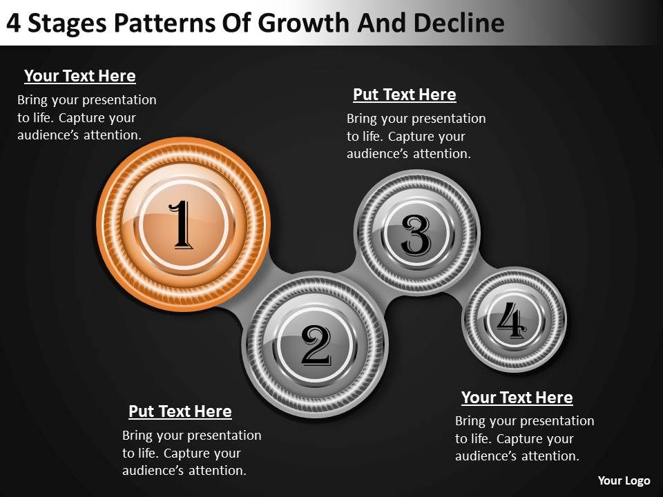 ... patterns of growth and decline powerpoint templates backgrounds for