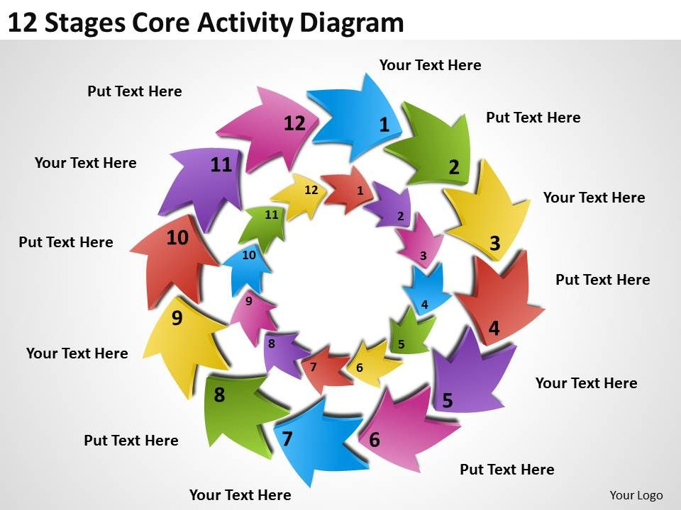 Business strategy consulting 12 stages core activity diagram businessstrategyconsulting12stagescoreactivitydiagrampowerpointtemplatespptbackgroundsforslidesslide01 ccuart