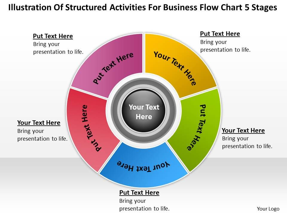 four staged circle of business icons flat powerpoint designbusiness strategy diagram flow chart  stages powerpoint templates ppt