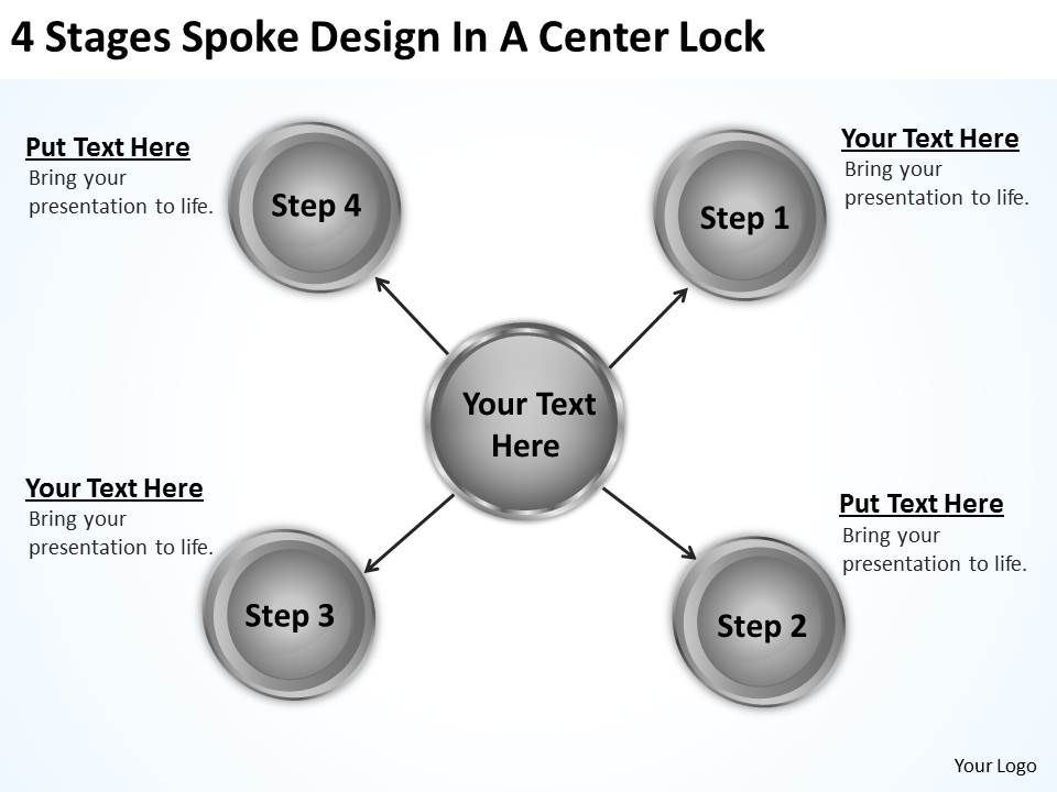 Business Structure Diagram Design Center Lock Powerpoint