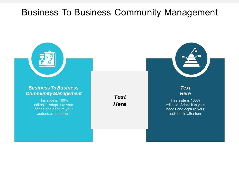 Business To Business Community Management Ppt Powerpoint Presentation Gallery Format Cpb