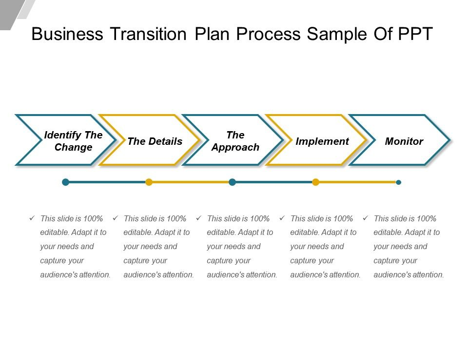 79675821 style linear single 6 piece powerpoint for Business process transition plan template
