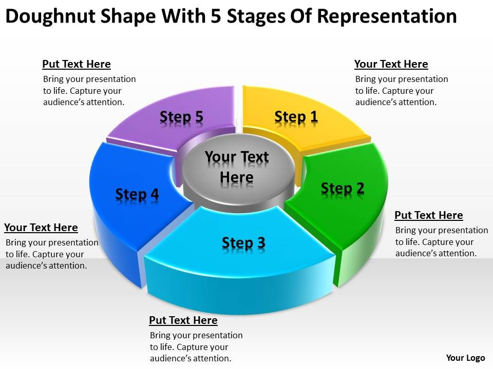 Business Use Case Diagram Doughnut Shape With  Stages Of
