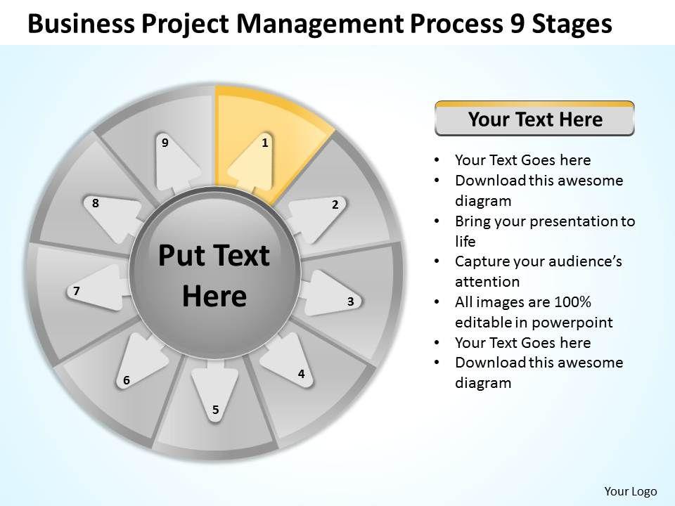 Business Workflow Diagram Project Management Process 9 ...