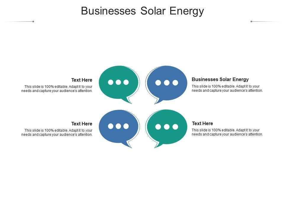 Businesses Solar Energy Ppt Powerpoint Presentation Icon Topics Cpb
