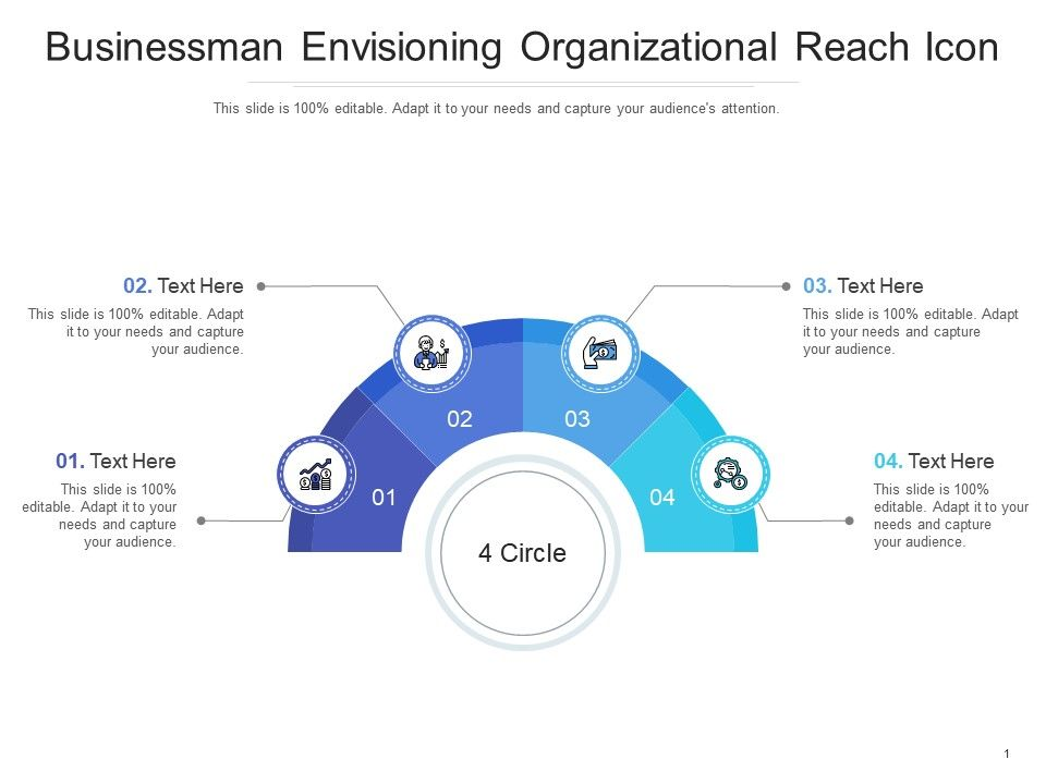 Businessman Envisioning Organizational Reach Icon Infographic Template
