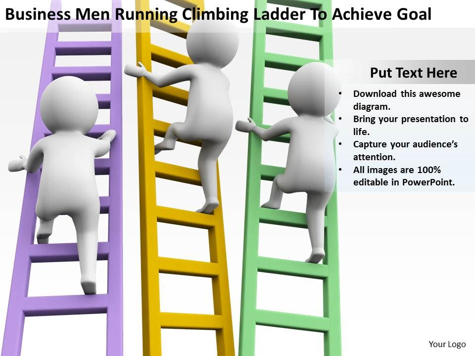 businessmen_running_climbing_ladder_to_achieve_goal_ppt_graphics_icons_powerpoint_Slide01