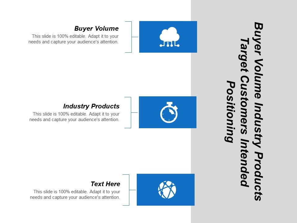 buyer_volume_industry_products_target_customers_intended_positioning_Slide01