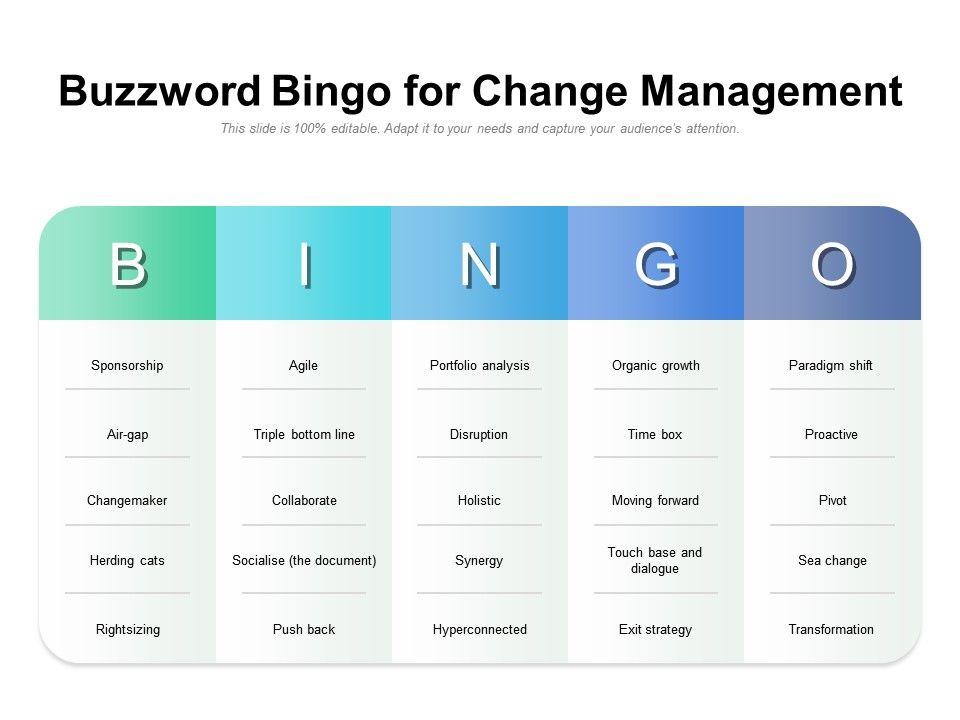 Buzzword Bingo For Change Management