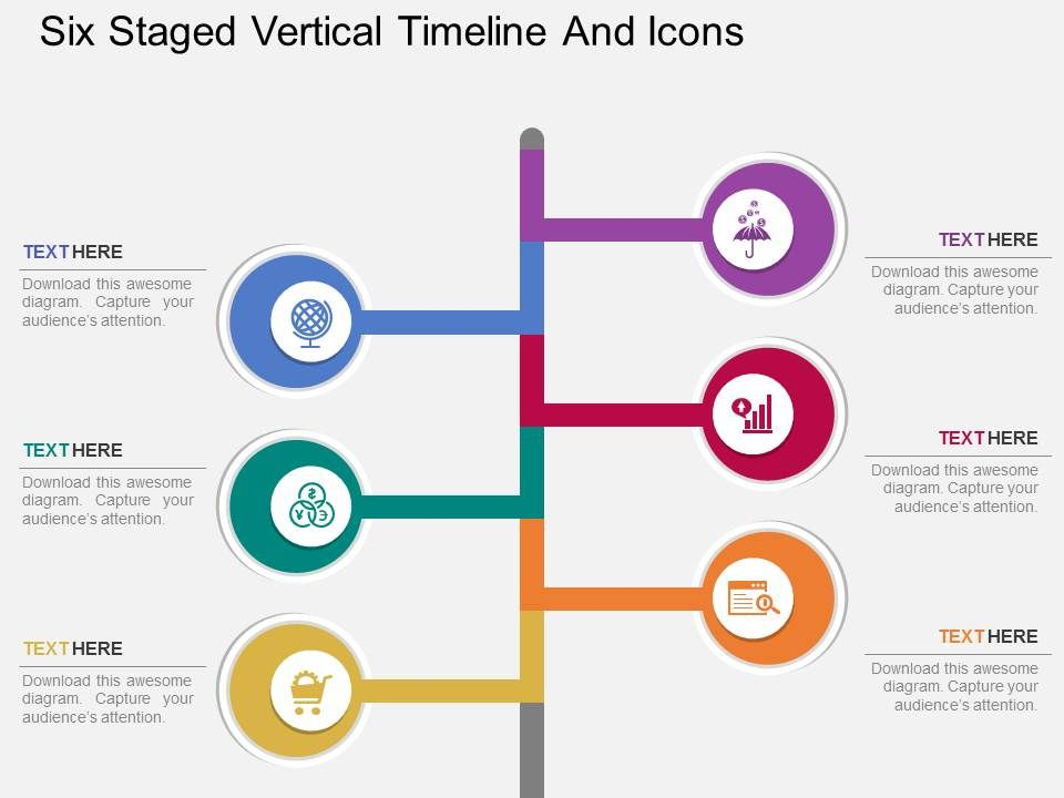 bw_six_staged_vertical_timeline_and_icons_flat_powerpoint_design_Slide01