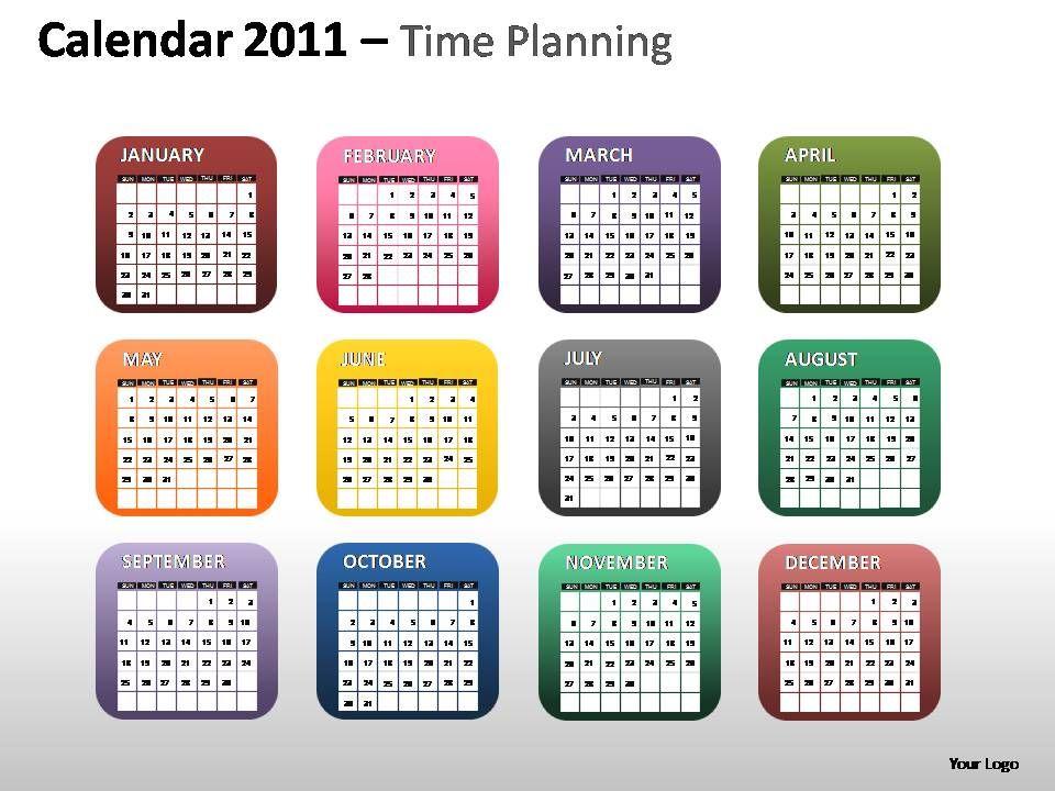 calendar_2011_time_planning_powerpoint_presentation_slides_Slide01