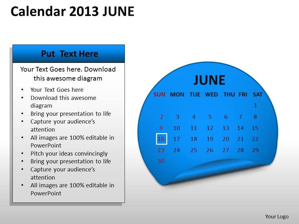 calendar_2013_june_powerpoint_slides_ppt_templates_Slide01
