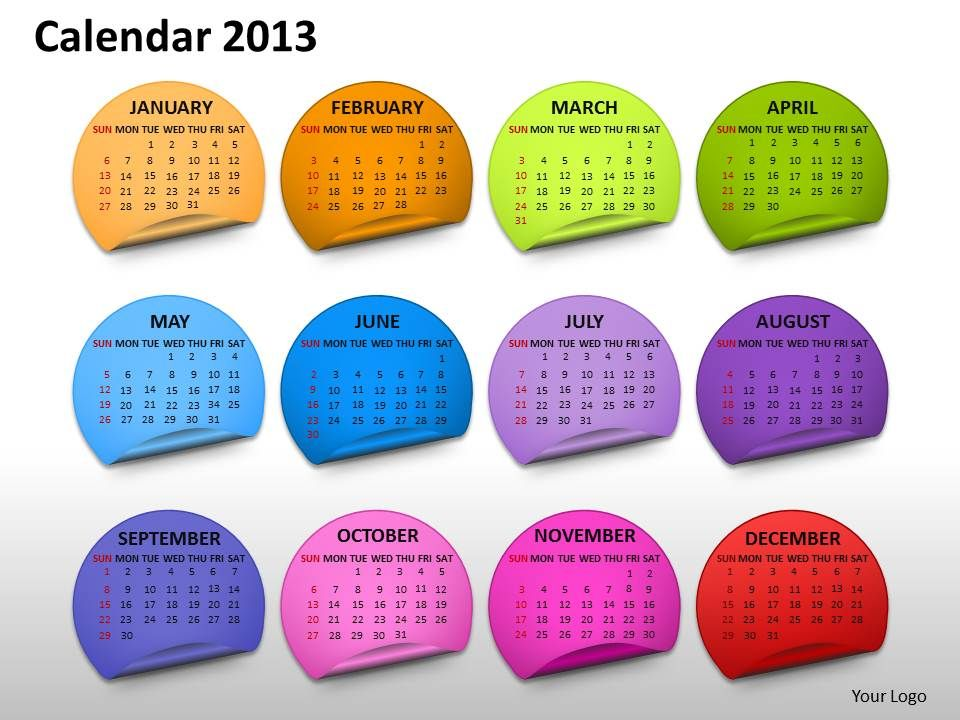 calendar_2013_month_powerpoint_slides_ppt_templates_Slide01