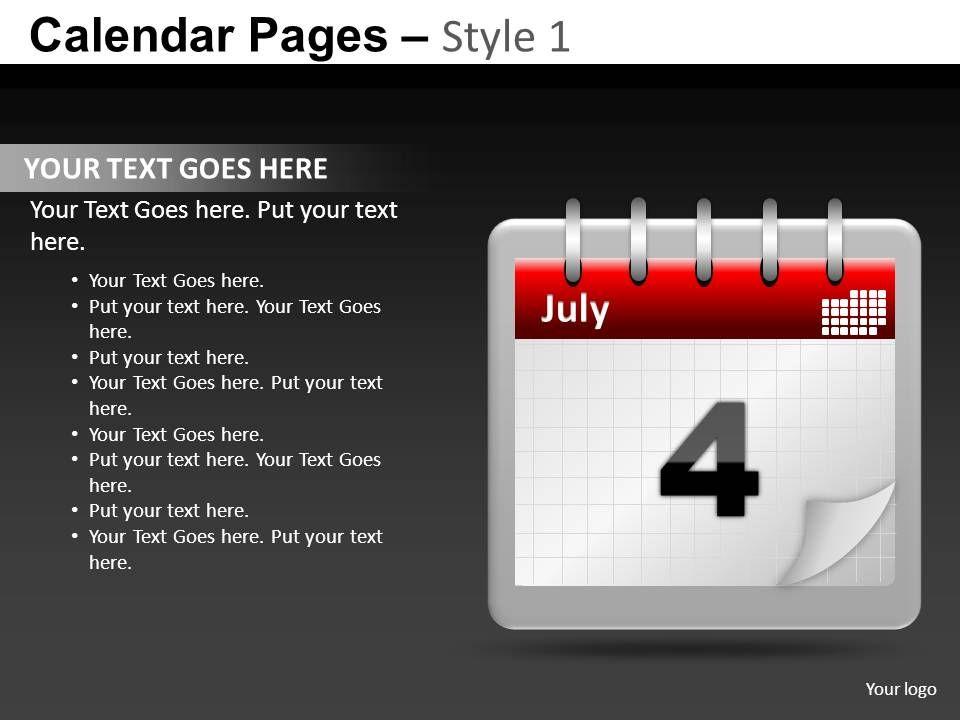 calendar_pages_style_1_powerpoint_presentation_slides_db_Slide01